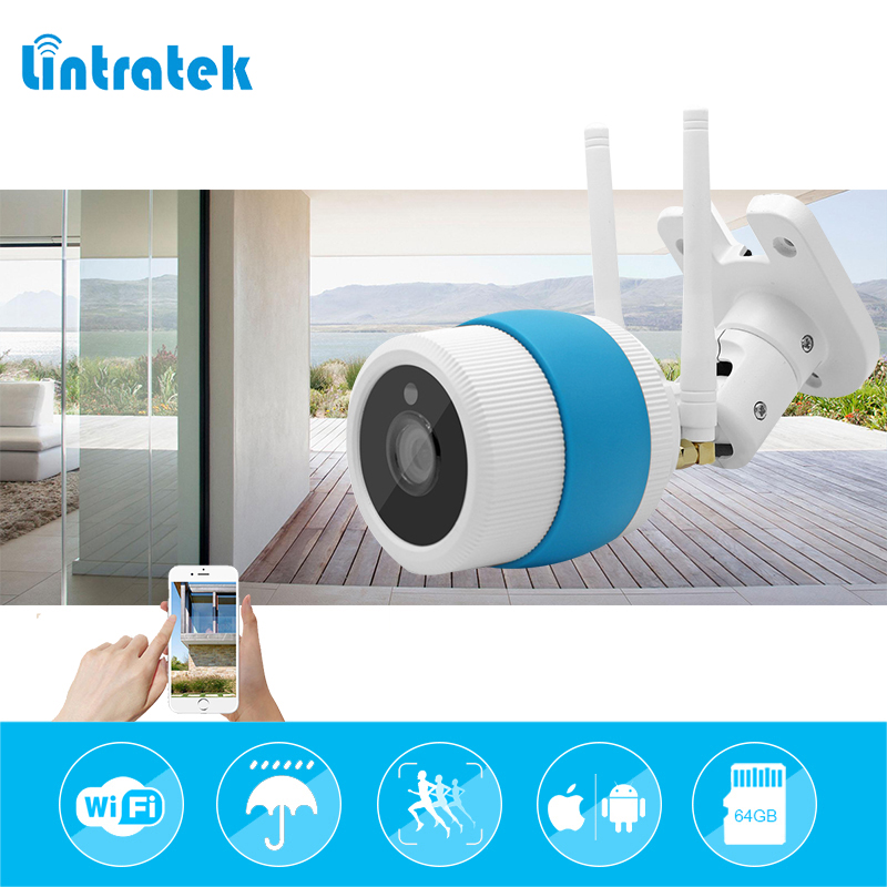 lintratek hd 720P 1 mp Bullet Camera Outdoor Wireless Wi-Fi CCTV Surveillance Waterproof Wifi Camera Home Security Camara IP Cam роликовый дезодорант жемчужна nivea роликовый дезодорант жемчужна