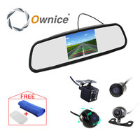 CCD HD 4 3 Inch Car Rearview Mirror Monitor Video Auto Parking System With 4 LED
