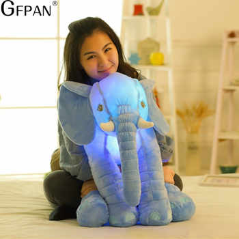 55cm Big Colorful Glowing elephant Luminous Plush Toys Kawaii Light Up Led elephant Stuffed Toys Doll Kids Christmas Gift - DISCOUNT ITEM  30% OFF Toys & Hobbies