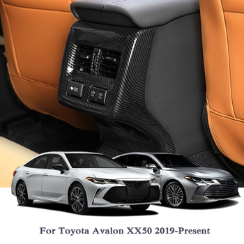 QCBXYYXH Car Styling ABS Chrome Car Rear Air Hood Cover Internal Decorations Sequins Car Stickers For Toyota Avalon XX50 2019
