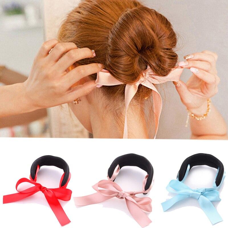 Woman Magic Hair Making Tool Hairband Sponge Hair Styling Ladies Headband Hair Accessories Curls Bun Braids Bowknot   Headwear