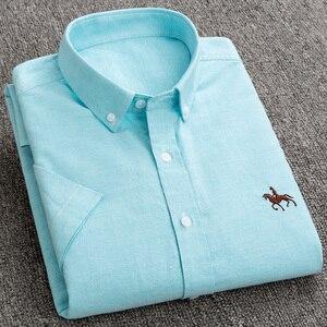 Image 3 - جديد S إلى 6xl قصيرة الأكمام 100% القطن أكسفورد لينة مريحة منتظم صالح حجم كبير جودة الصيف رجال الأعمال قمصان غير رسمية