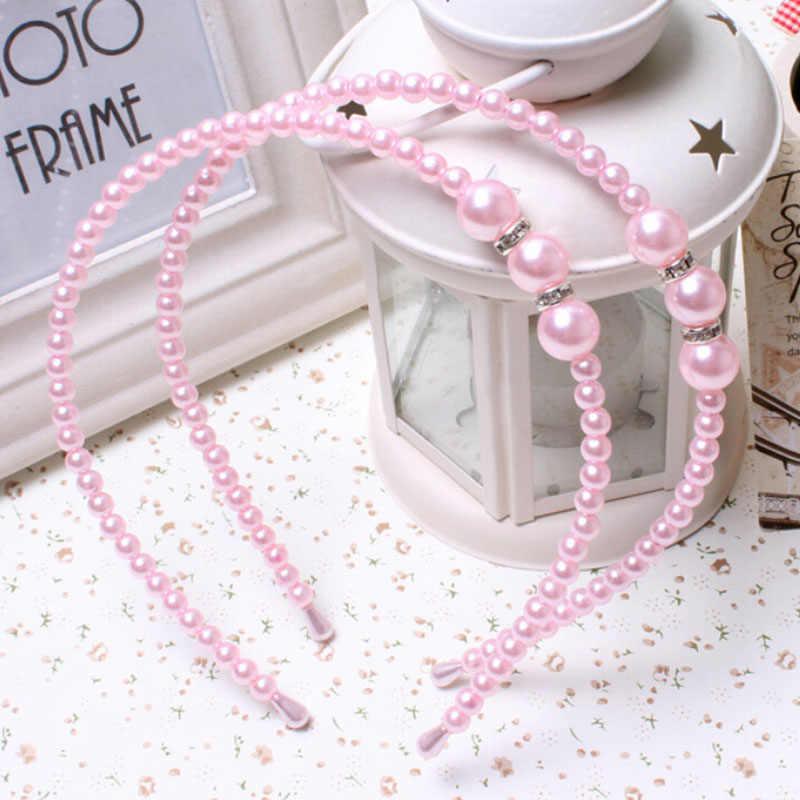 1 Pc Haar Zubehör Lünette mit Strass Stirnband Elegante Mädchen Perle Prinzessin Haarnadeln frauen Stirnbänder Haarband für Frauen