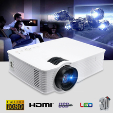 Thinyou GP-9 Projector White 3000 Lumens portable Projector ISO Portable LED Projector 1080p Full HD video Home Theatre System