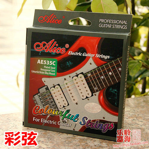 alice ae535c colored electric guitar strings 009 imported color coated steel core guitar. Black Bedroom Furniture Sets. Home Design Ideas