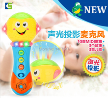 New  baby Musical Toy Juguetes  Children Microphone with Light Music projection function microfone Karaoke Singing Brinquedos