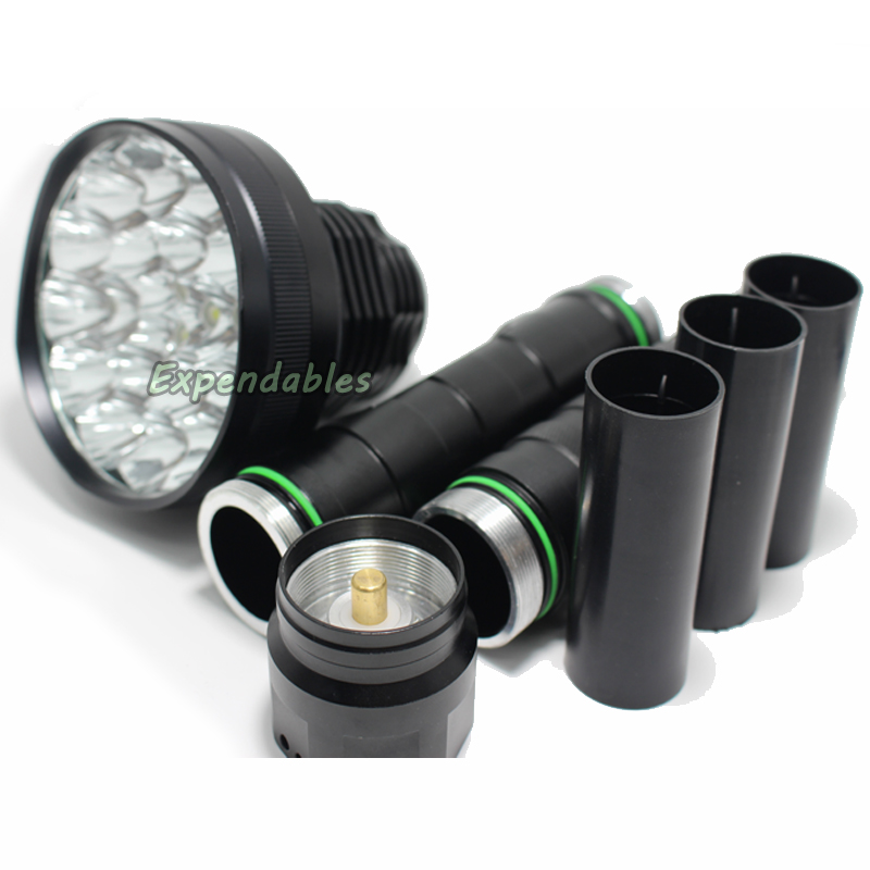 ФОТО powerful led flashlight 35000LM XML-24*T6 Hunting Lights exploration Lamp Lighting tactical LED Flashlights 26650/18650 Torch