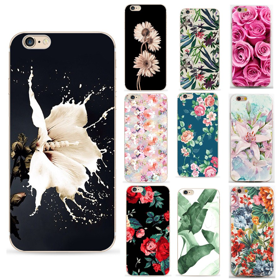 Galleria fotografica For carcasa iphone 6 original 360 Case Flower Soft Silicon Phone Cases For iphone 8 plus 7 plus 6 6s X XS case luxury for Women
