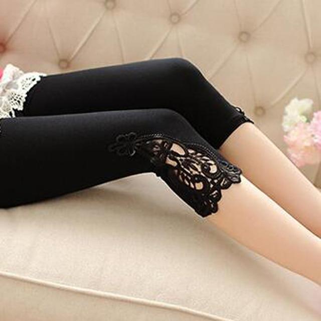 Zomer leggings S-7XL plus size leggings vrouwen katoen korte kant leggings maat 7XL 6XL 5XL 4XL 3XL XXL XL L M S