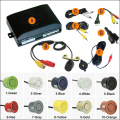 10-Color Car 4-sensor Rearview Parking Sensor Reversing Aid System With 16.5mm External Mounting Camera #J-1872