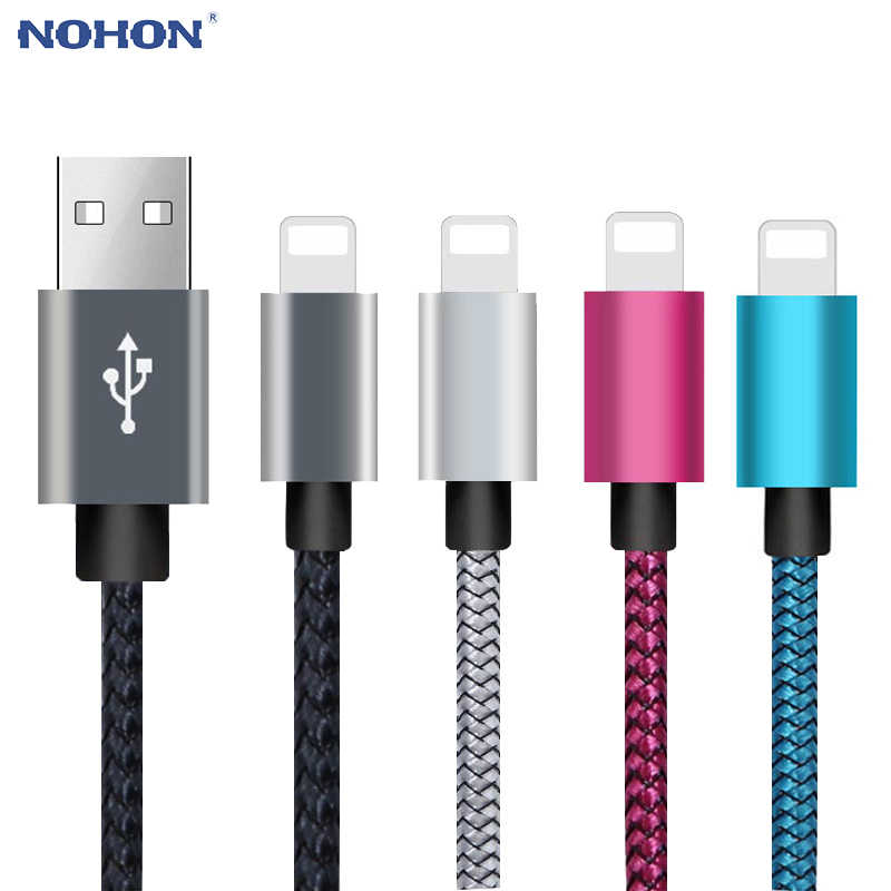 1, 2, 3 m datos USB cargador de Cable de carga para iPhone 7 7 6 6 s 6 s Plus X 10 XR XS MAX 5 5S SE 5SE iPhone7 origen corto cable largo