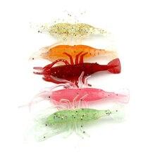 8cm Lure Simulation Soft Shrimp Bait 3.6g Lobster Type Soft Bait 5 Color Fake Shrimp Bait Fishing Lures