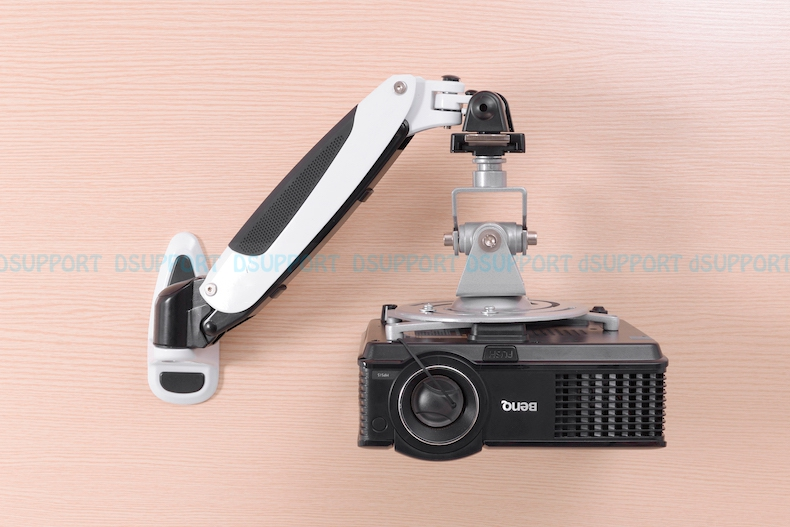 PR03A Aluminum Alloy 360 Degree Projector Wall Mount Full Motion Retractable Universal Projector Hanger Bracket multifunction 360 degrees rotatable universal roof ceiling mount black aluminum wall bracket suit for led lcd dlp projector