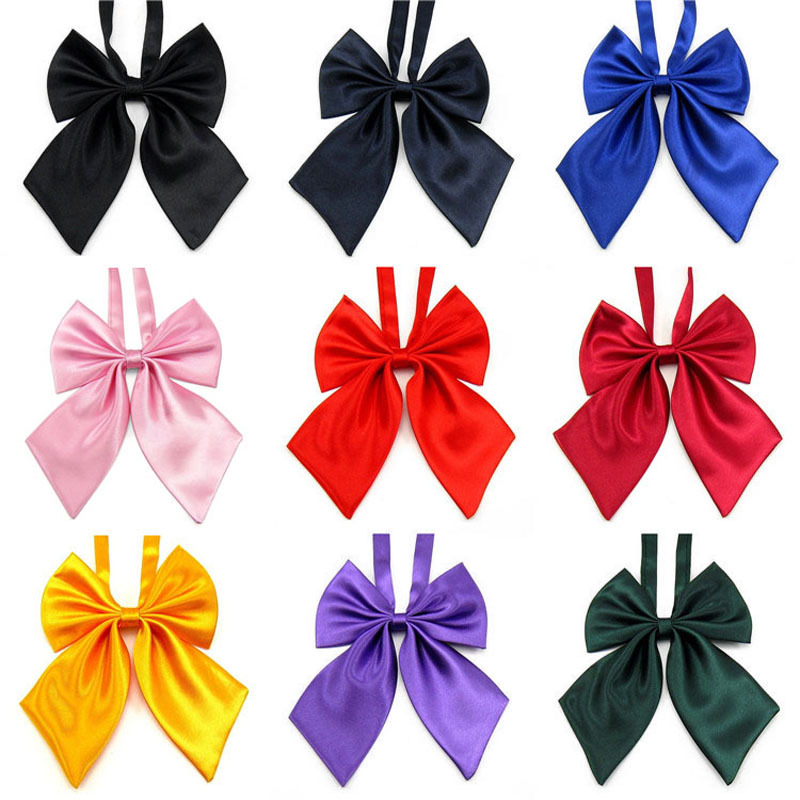 HOOYI 2018 solid bow ties womens butterfly bowtie BOWS