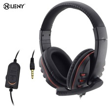 Wired 3.5mm Headset Headphone Earphone Music Microphone For PS4 Game PC Chat hot new цена и фото
