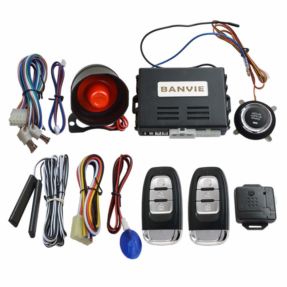 BANVIE PKE охранной сигнализации Системы с дистанционным стартер двигателя Start/Stop кнопка/Пассивный Автозапуск starline