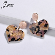 Joolim Jewelry Wholesale/Lovely Heart Resin Drop Earring Gift to Girl Trendy Earrings for Women 2019 цена