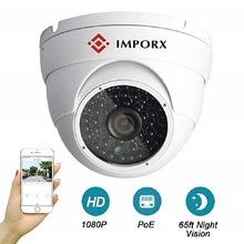 IMPORX HD 2MP 1080P POE IP CAMERA H.265 Outdoor Security Dome Camera One-Way Audio Infrared 50m Night Vision Video Surveillance ec60 wifi ip camera 1080p hd outdoor camera waterproof infrared night vision security video surveillance smart