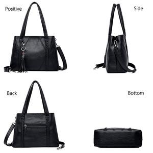 Image 5 - New Leather Tassel bags Large Capacity Women Shoulder Messenger Bag Handbag Famous Big Bag Designer Handbags High Quality Sac