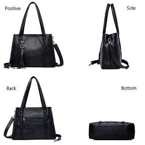 Image 5 - Nieuwe Lederen Kwastje Zakken Grote Capaciteit Vrouwen Schouder Messenger Bag Handtas Beroemde Big Bag Designer Handtassen Hoge Kwaliteit Sac