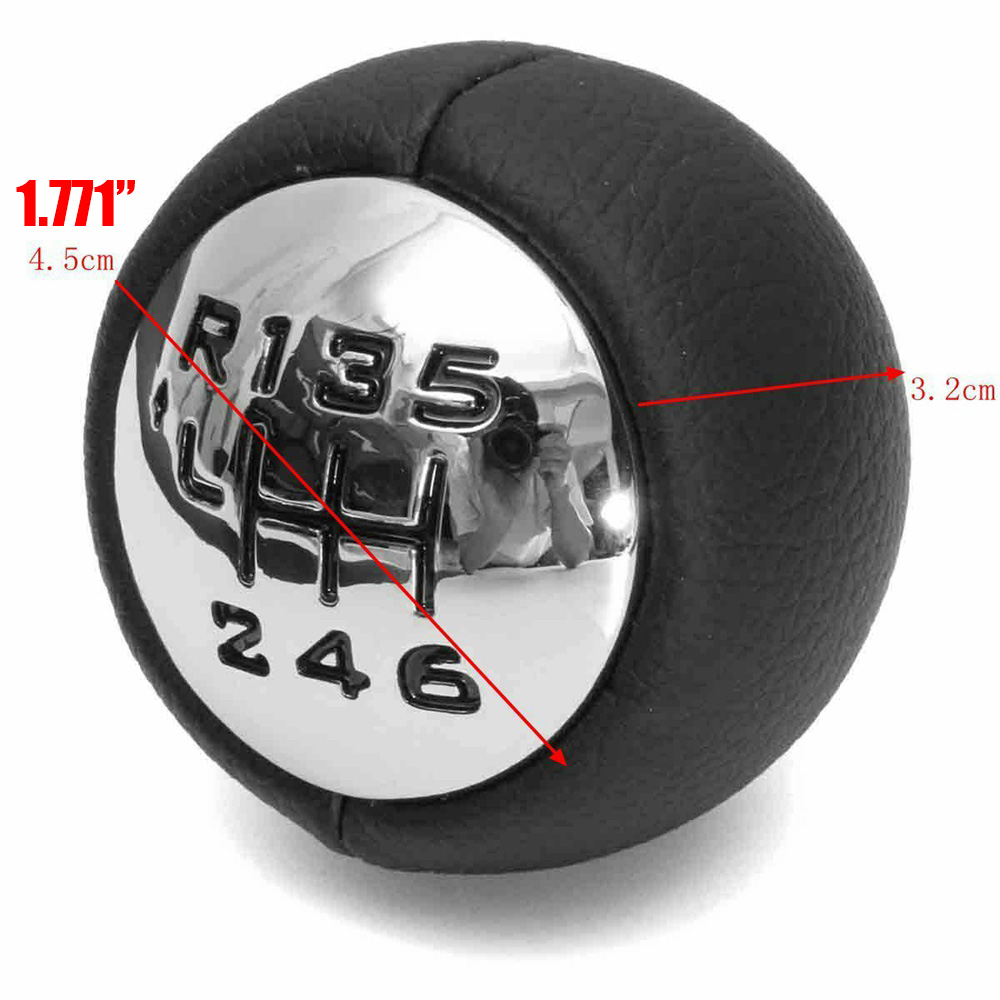 Mayitr 1pc 6 Speed Black Gear Stick Replacement Car Gearstick Shift Head Knob For Peugeot 307 308 3008 407 5008 807