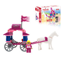 J315 DIY 57pcs Princess Small Carriage Model Small Particles Building Blocks Educational Toys Assemble Toy Wholesale
