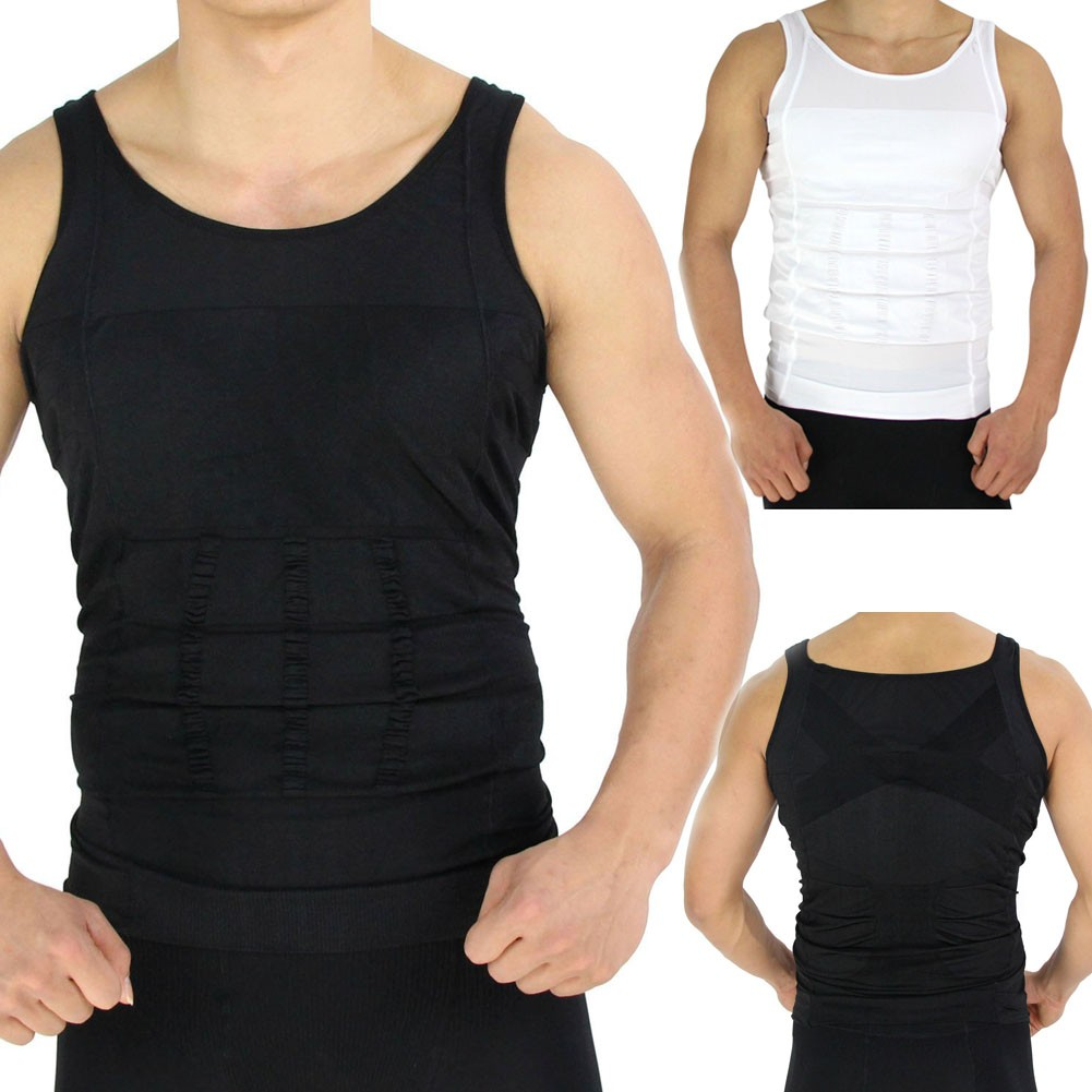 Shaping Slim T Shirt Man Slimming Vest Men Shape N Lift Body For Sculpting Short Sleeve Compression Shaper White Black Color190 In Shapers From Mens Clothing