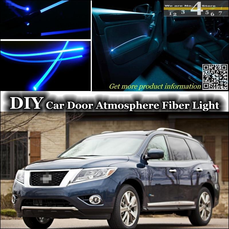 Interior Ambient Light Tuning Atmosphere Fiber Optic Band Lights For Nissan Pathfinder Inside Door Panel Illumination