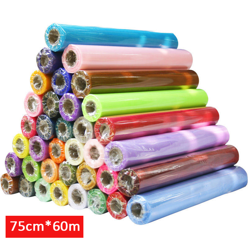 HAOCHU 75cm Wide * 60m Long Crystal Organza 19 Colors for Choose Tulle Roll Fabric Drapes For Wedding Birthday Party Decoration