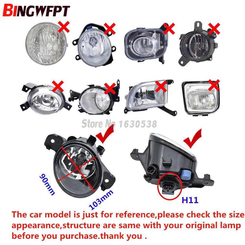 2PCS Devil Eyes Car styling LED / Halogen Fog LIGHT Lights drl Refit Fog lamp glass Yellow color diameter 90MM * 103MM