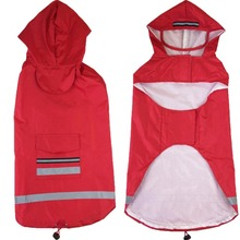 2 Color Hooded Pet Dog Raincoats Big Dogs Waterproof Clothes Dog Raincoat Poncho Big Rain Jacket 3XL-5XL