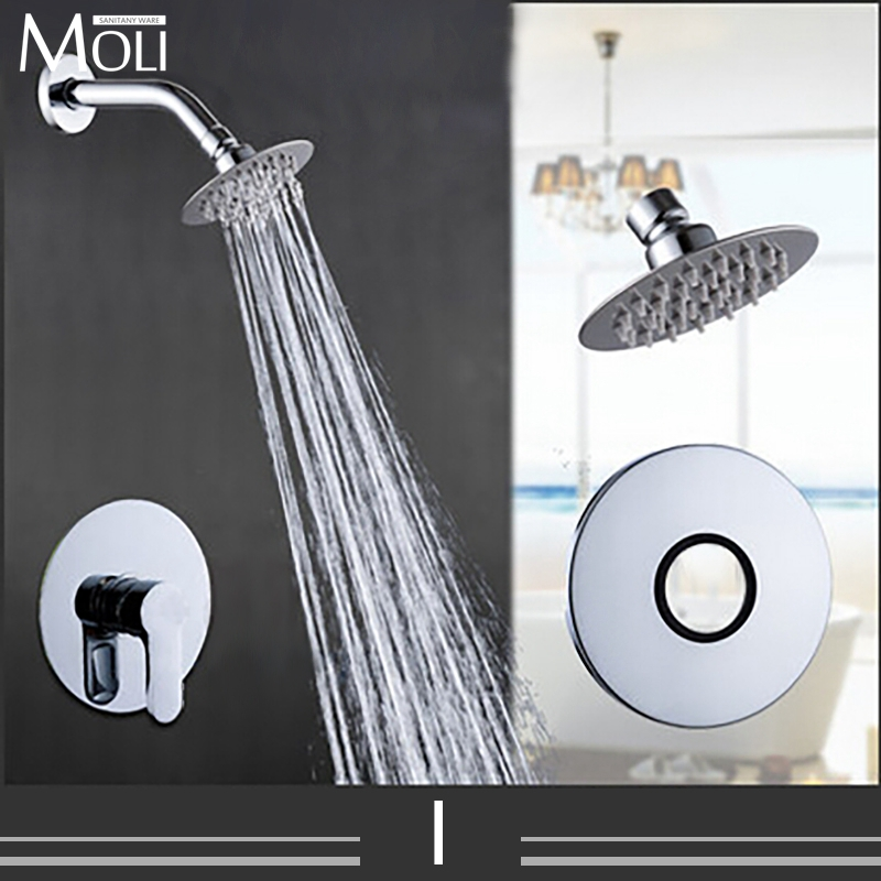 ФОТО In Wall Shower Faucet Rain Shower Set Single Handle Free Shipping