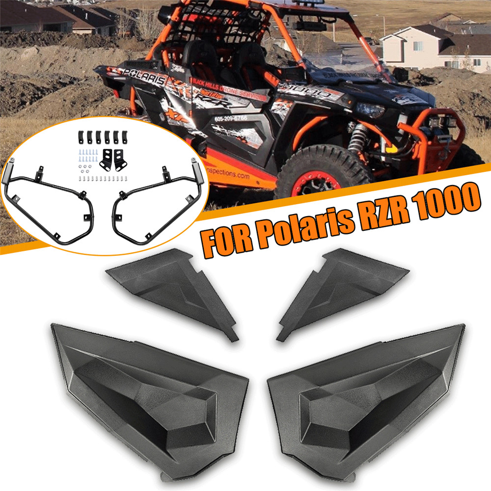 KEMiMOTO Lower Door Panel Inserts for Polaris RZR S 900 1000 2016 RZR XP S Turbo