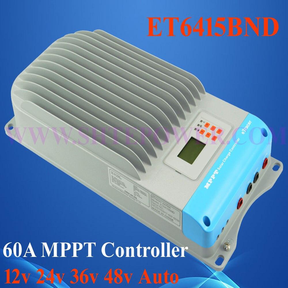 new mppt controller,ET6415BND 12v 24v 36v 48v auto solar charge controller 150v 12v 24v 36v 48v auto mppt solar charge controller 60a