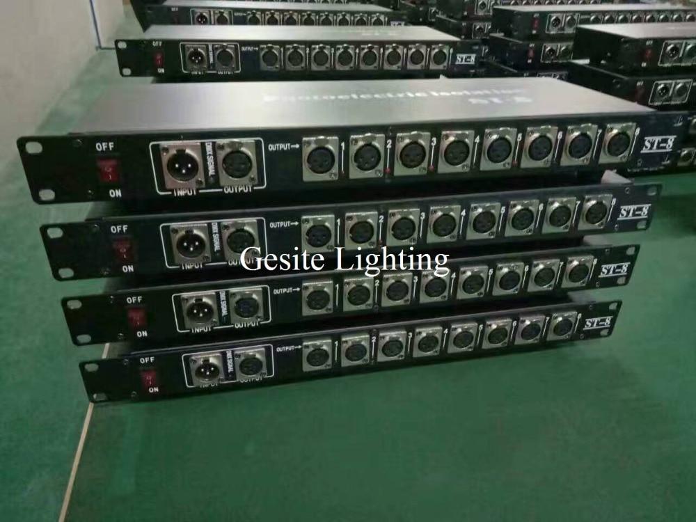 2pcs/lot 8 road DMX512 signal amplifier / stage lights DMX512 amplifier / signal amplifier professional dj equipment
