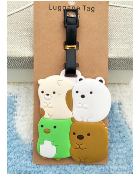 Sumikko Gurashi Luggage Tag PVC Pendants Portable Travel Label Suitcase ID Address Holder tags anime new