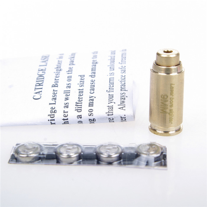 CAL: 9MM Cartridge Red Laser Bore Sighter Boresighter Boresight Copper/brass For Scope Hunting Free Shipping,good Quality