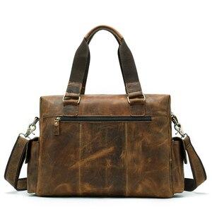 WESTAL جلد طبيعي حقيبة ساعي حقيبة الكتف للرجال عارضة الذكور حقائب الكمبيوتر المحمول حقائب الكمبيوتر جلد أكياس للمستندات