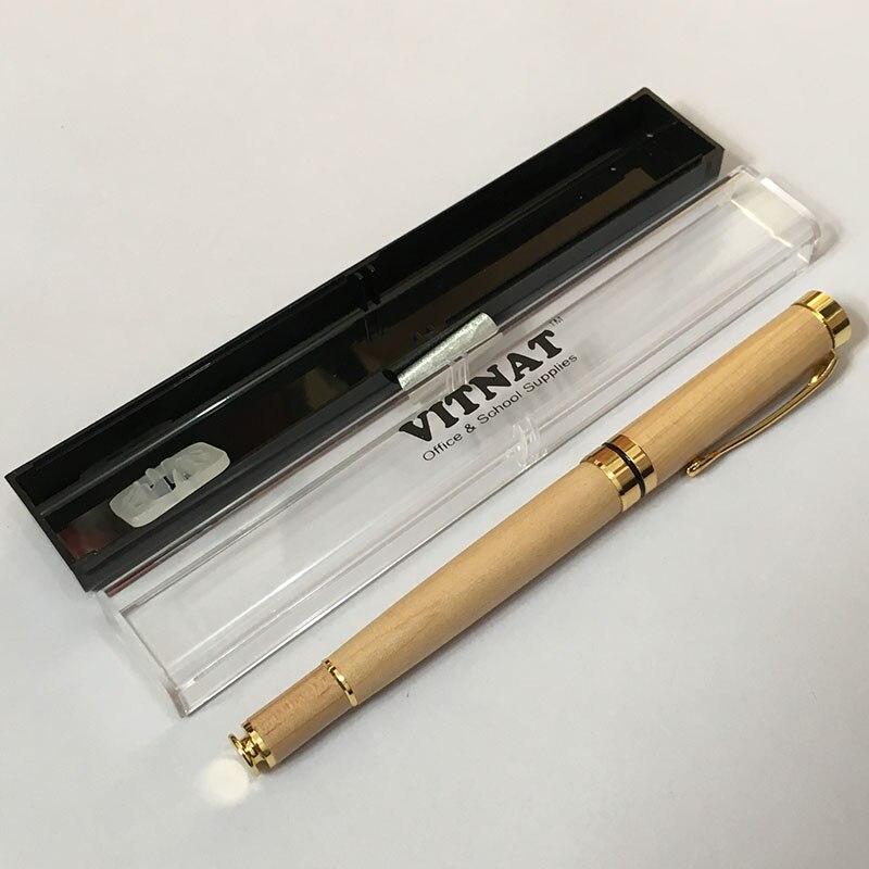 Criativo madeira grão canetas escola escritório bola canetas caixa de presente criativo aprendizagem artigos de papelaria acessórios