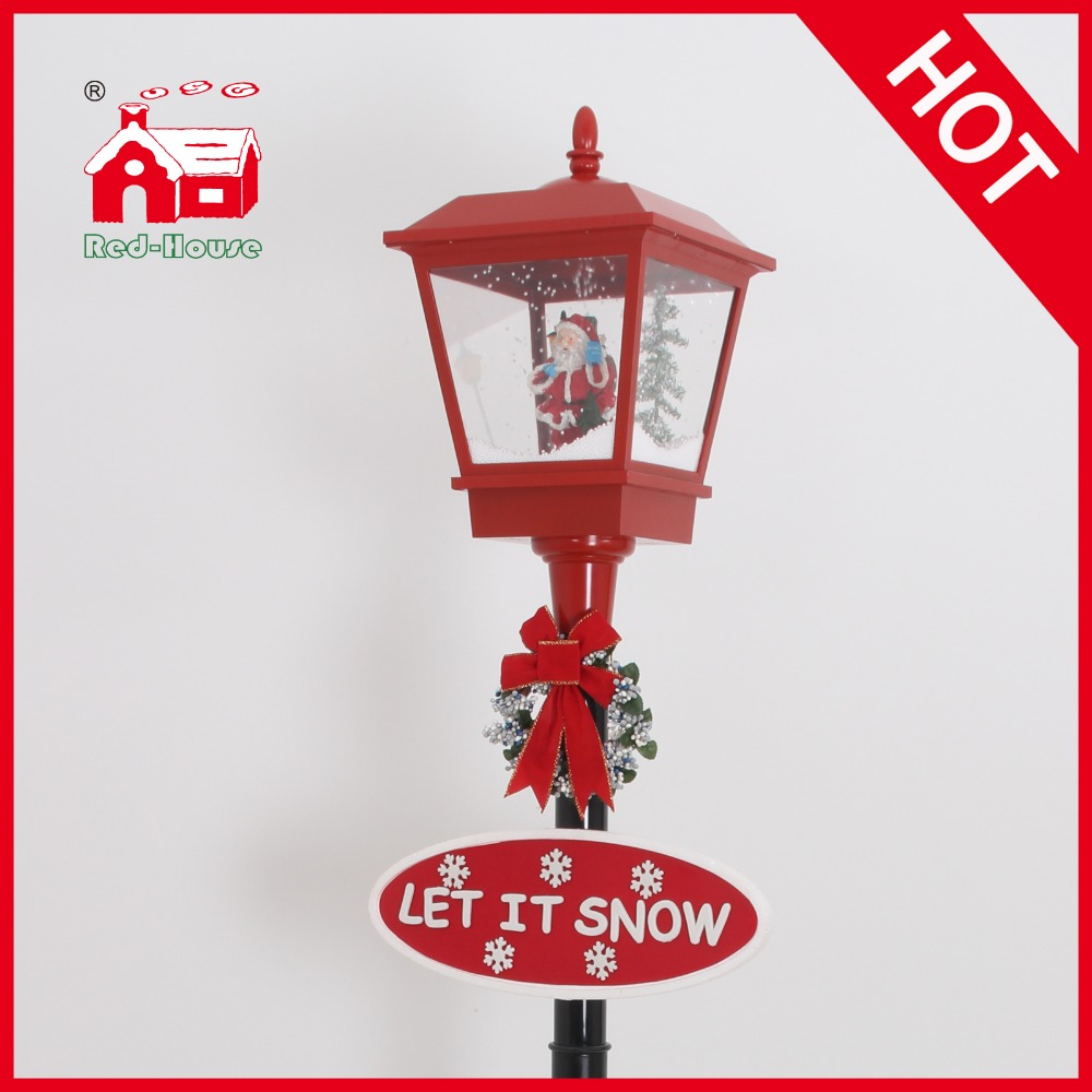 72 Popular Musical And Snowing Red Black Lamppost With Led Lights And Christmas Santa Claus Inside Light Splash Light Blue Color Rgblight Up Open Sign Aliexpress