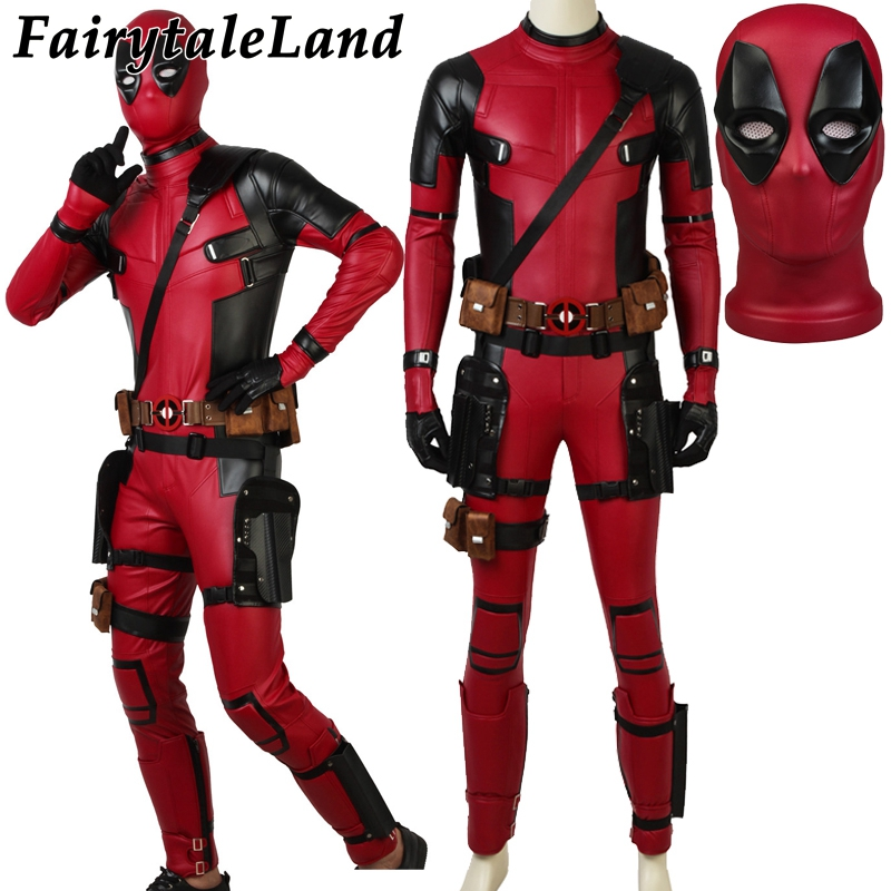 Wade Winston Wilson Deadpool Salopette Halloween Costumes Custom made Film Deadpool 2 Costume Cosplay Deadpool Costume