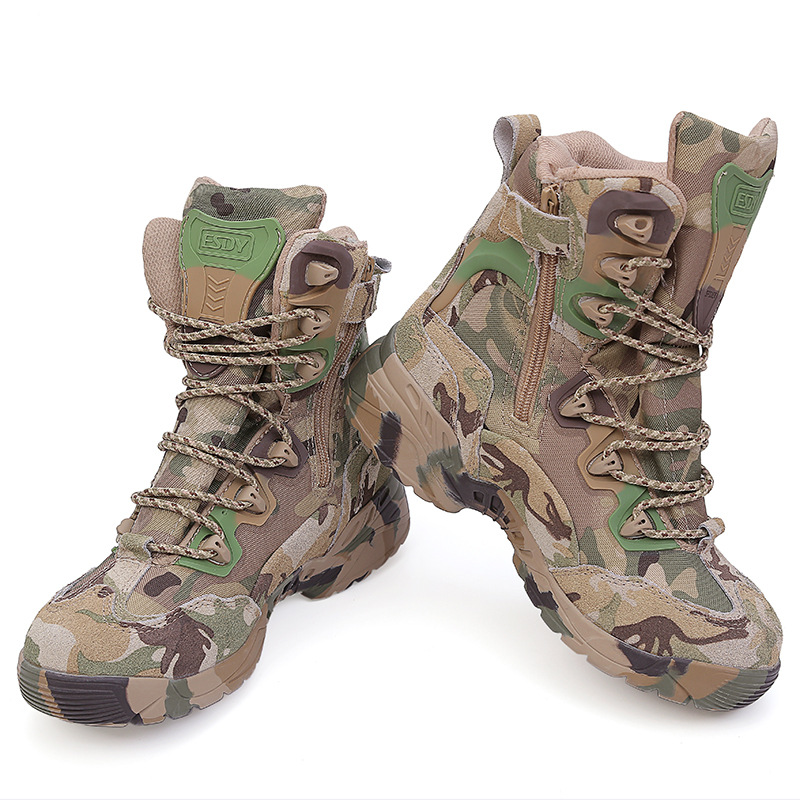 Rubber Boots Men 39-45 Outdoor Hiking Shoes Waterproof Tactical Shoes Camping Trekking CP Army Boots Camouflage Outdoor Shoes