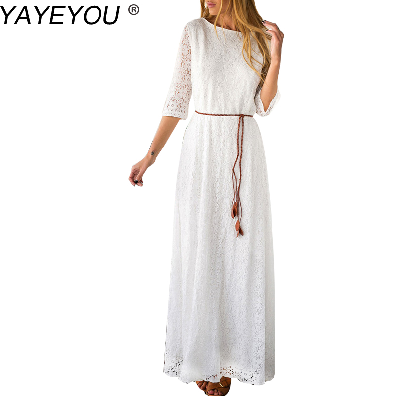Длинное платье на лето крючком