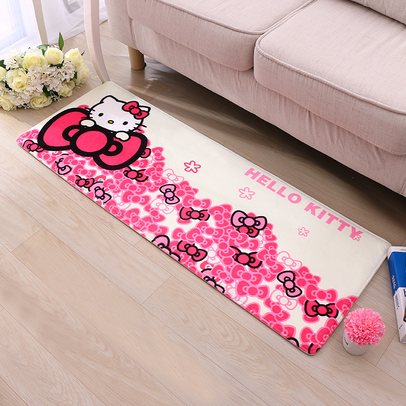40*60cm,50*80cm Hello Kitty Flannel Child Decor Bedroom Carpets For Living Room Rugs Bathroom Home Super Soft Carpet