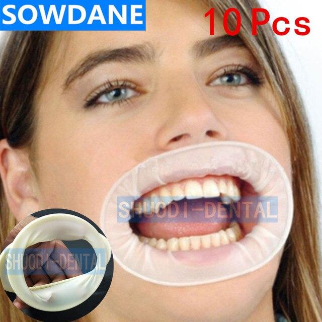 10 stuks Dental Wegwerp Rubber Steriele Mond Opener Oral Cheek Expanders Retractor Rubber Dam Mond Opener Mondhygiëne