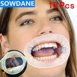 Image 1 - Abridor de boca estéril de goma desechable Dental, expansores de mejillas, Retractor de boca de goma, higiene bucal, 10 Uds.