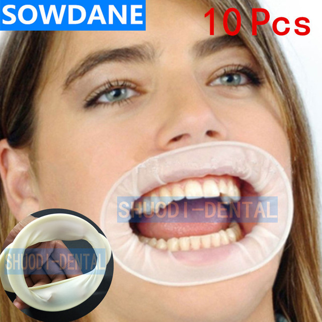 Abridor de boca estéril de goma desechable Dental, expansores de mejillas, Retractor de boca de goma, higiene bucal, 10 Uds.