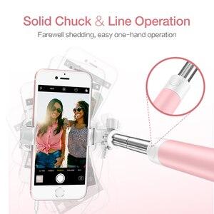 Проводная селфи-палка FLOVEME для iPhone 6, 6S, huawei, samsung, монопод для селфи, Складная портативная селфи-палка, монопод