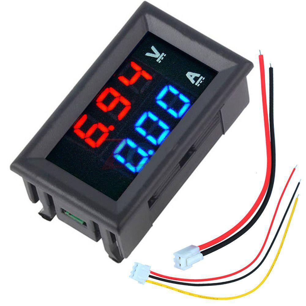 Mini Digital Voltmeter Ammeter DC 100V 10A Voltmeter Current Meter Tester Blue+Red Dual LED Display For RC Drone FPV Robot