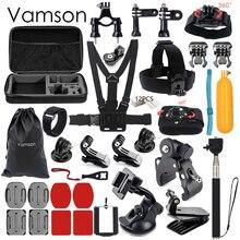Vamson for Gopro Hero 5 Accessories Set Head Strap Waterproof Storage Bag For Gopro hero 5 4 3 for Xiaomi Sport Camera VS65